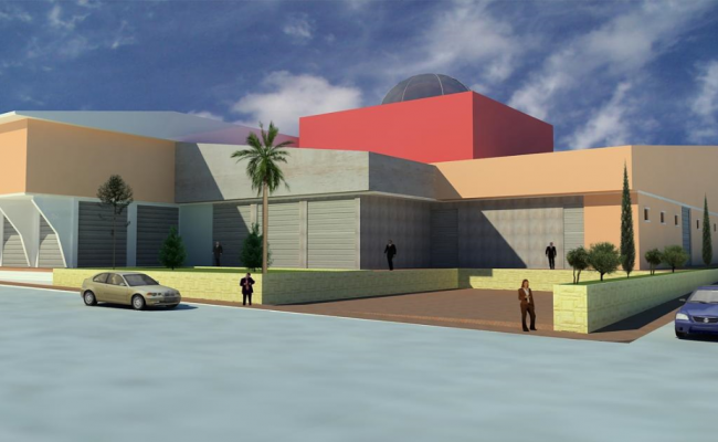 3d design of shopping center project dwg file