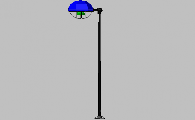 3d design of street electric light pole dwg file
