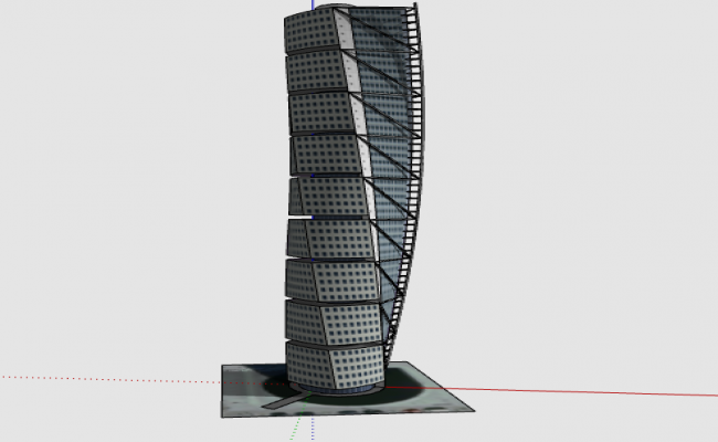 3d design of twisting tower dwg file