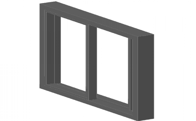 3d design of window details dwg file
