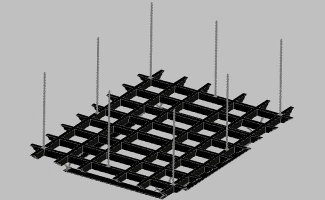 3d design of wooden pergola support with steel chains with materials dwg file