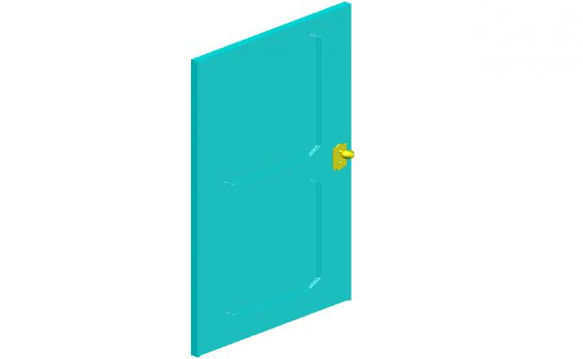 3d design view of door