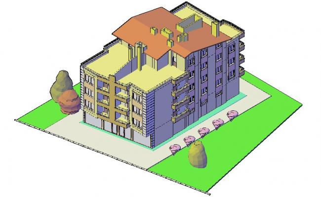3d drawing of Villa in AutoCAD