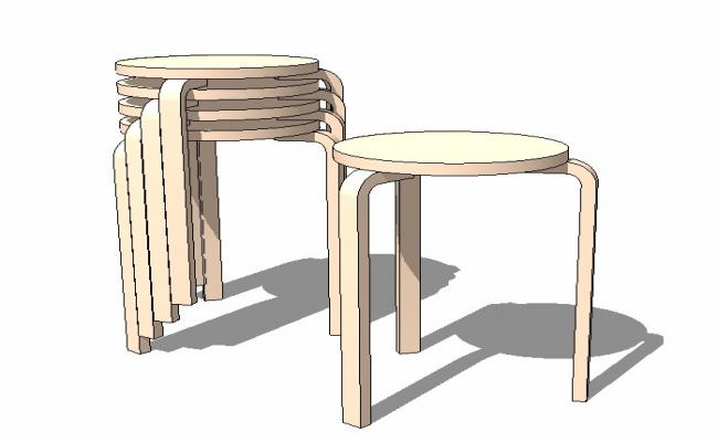 3d drawing of stool .3d drawing with detail.