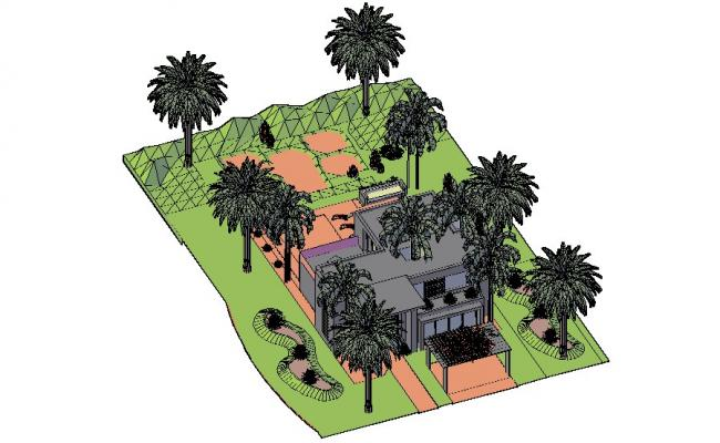 3d drawing of the bungalow in dwg file