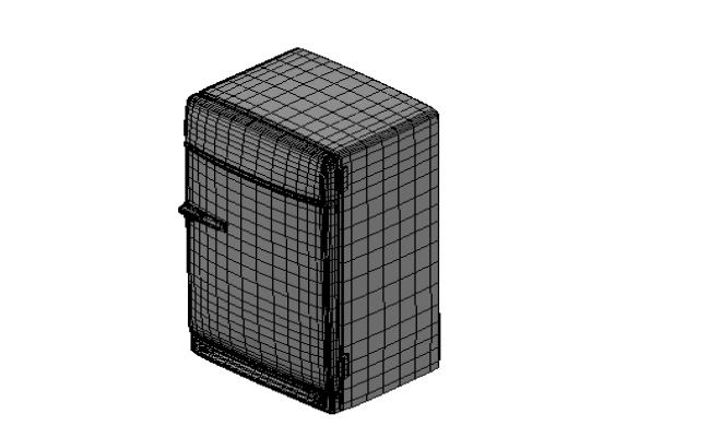 3d elevation of a fridge