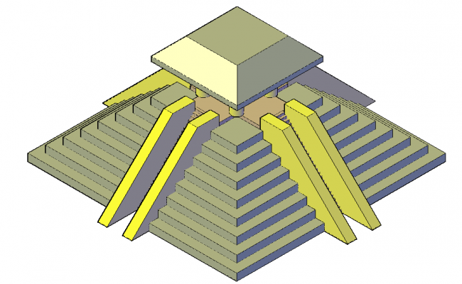 3d elevation of a pyramid