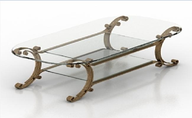 3d house center glass table dwg file