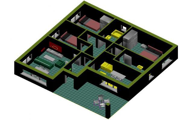 3d house model CAD File Download