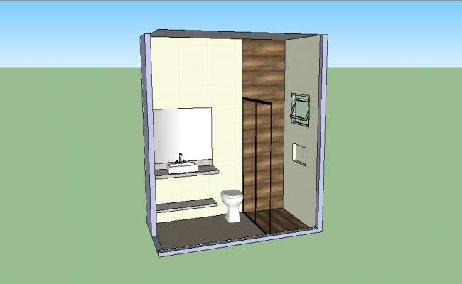 3d house toilet model cad drawing details skp file