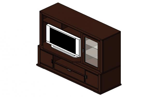 3d model of furniture block layout Revit file