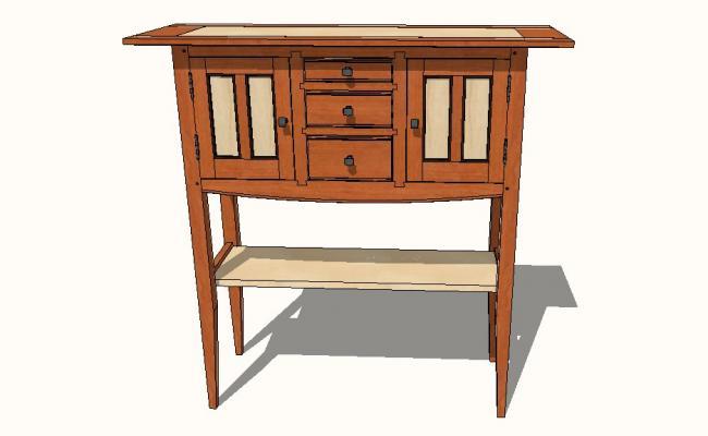 3d model of sideboard