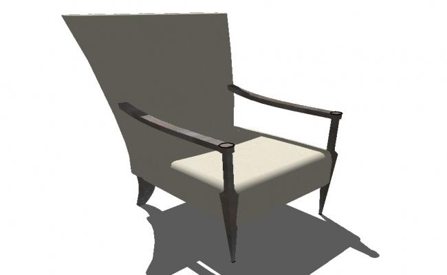 3d model of sitting chair furniture block sketch-up file