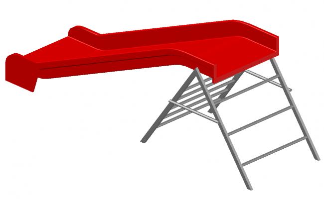 3d model of slider detail elevation layout dwg file