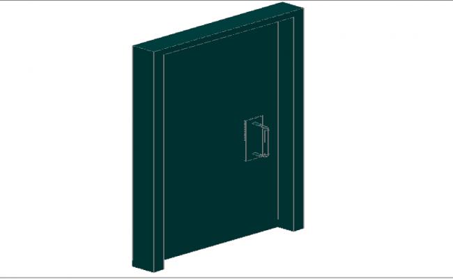 3d side view design of modern door details dwg file