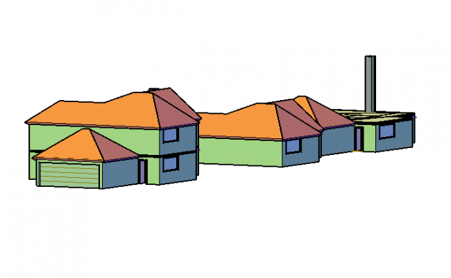 3d simple house design in cad