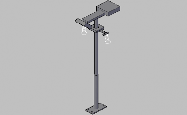 3d street light pole design dwg file