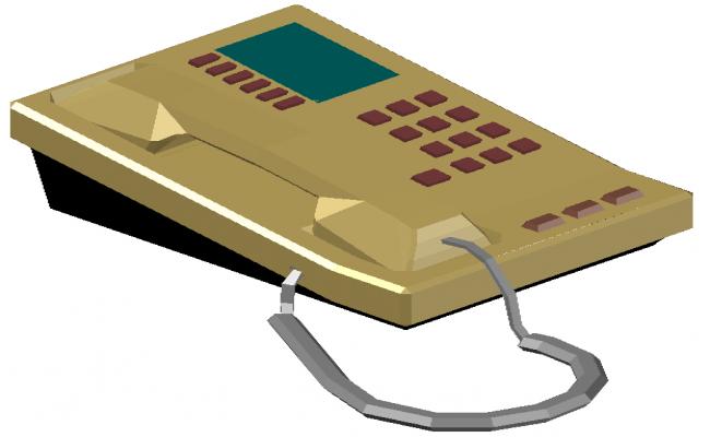 3d telephone dwg file