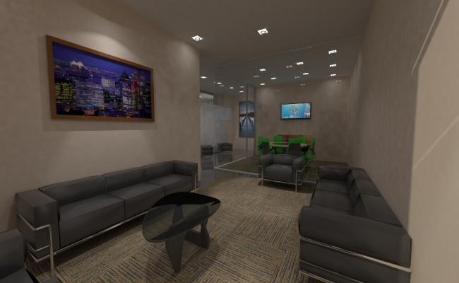 3d view of interior skp file