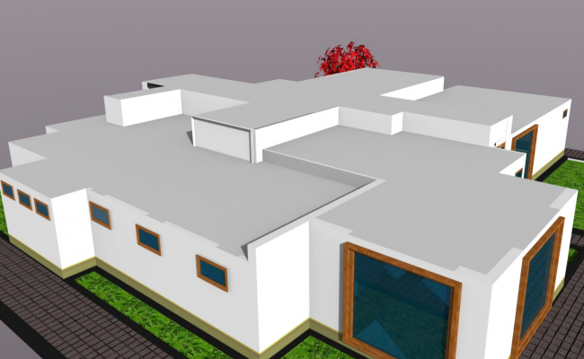 3d view of office skp file