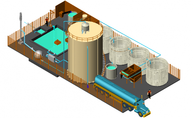 3d view of treatment plan  dwg file