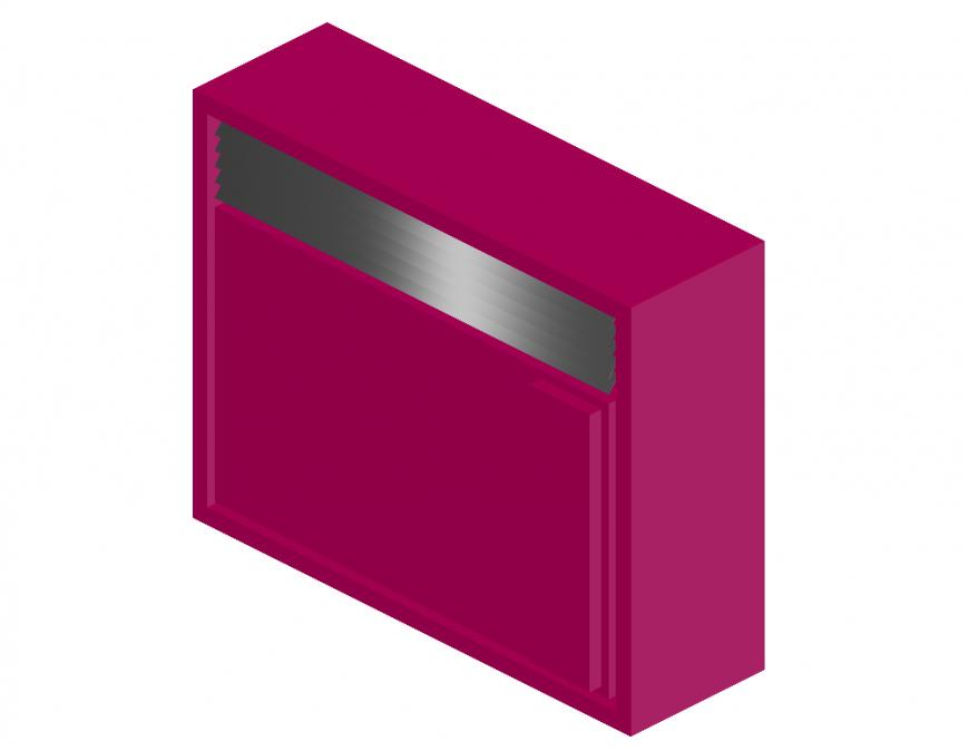 3d air conditioner elevation cad block details dwg file