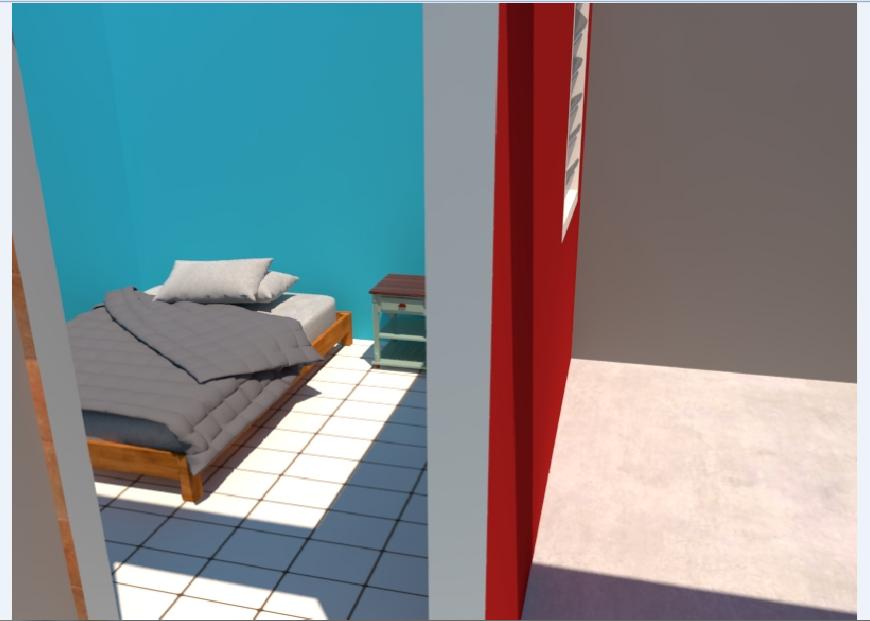 3D Bedroom area Plan design of progressive development House project