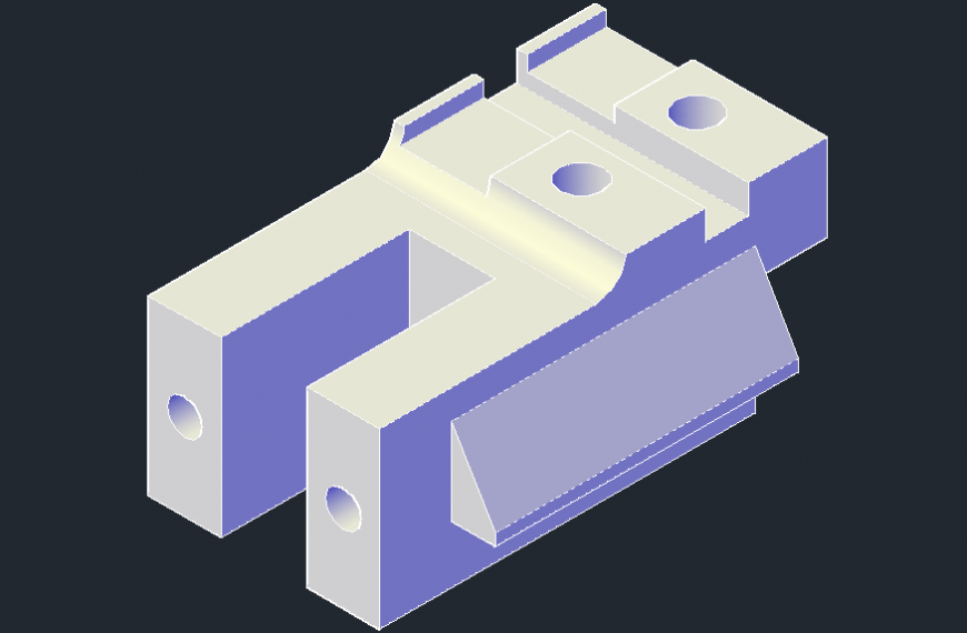3D blocks model detail