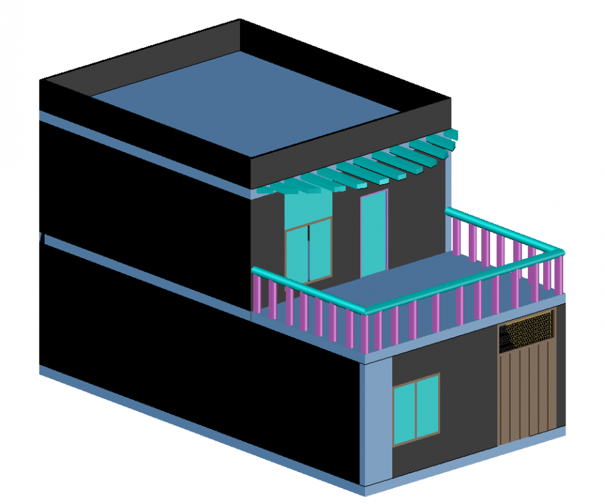 3d cad drawing of House full auto cad software