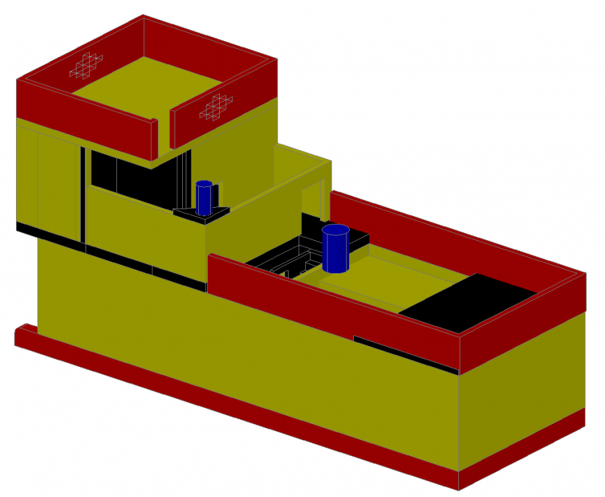 3d cad drawing of house number three auto cad software