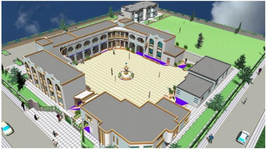 3d cad drawing of school campus autocad software