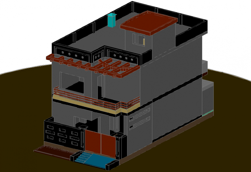 3d CAD living apartment detailing in autocad software file