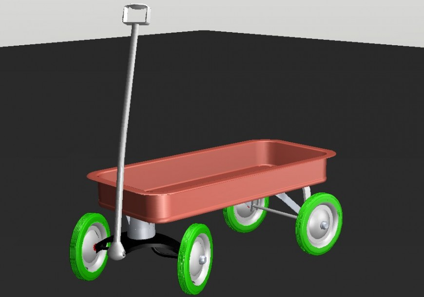 3D carriage trolly design file detail