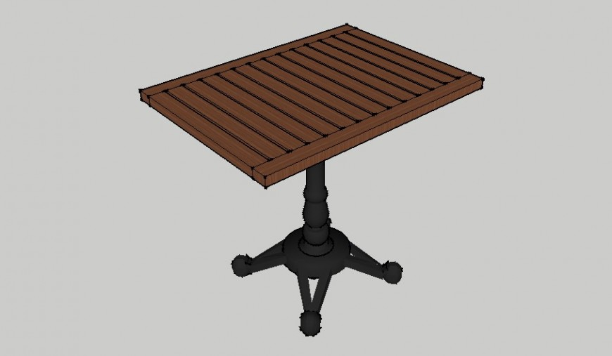 3d Central table skp file