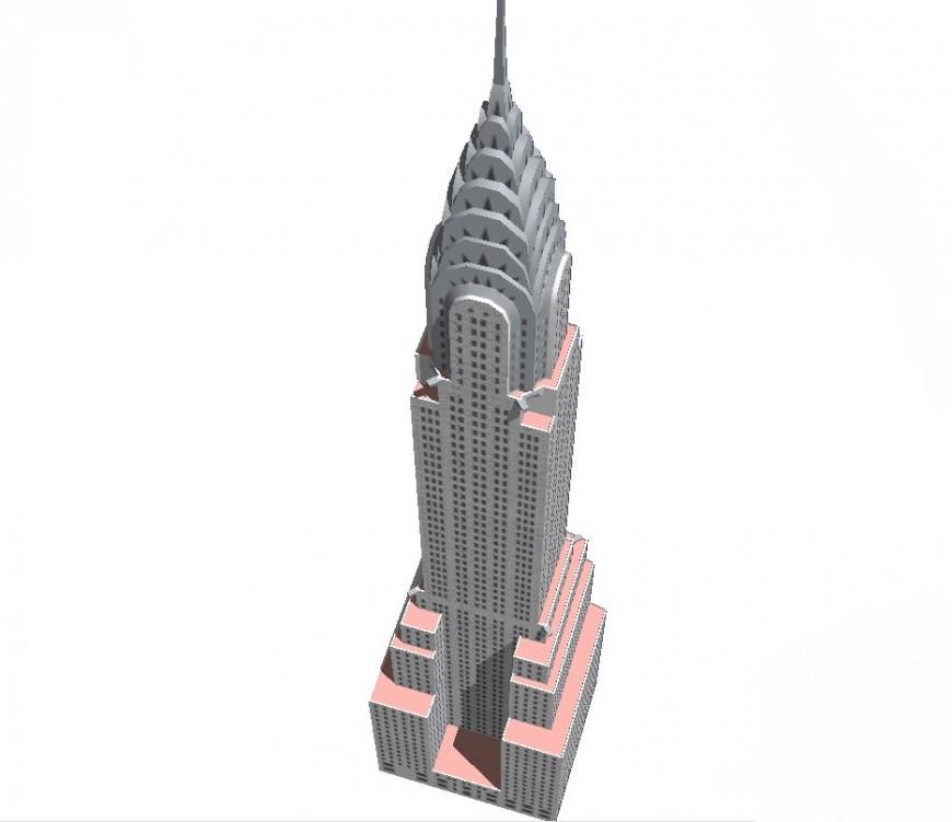 3d Chrysler building skp file