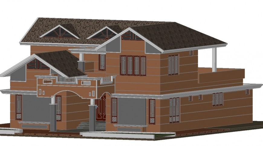 3D concept elevation of a house