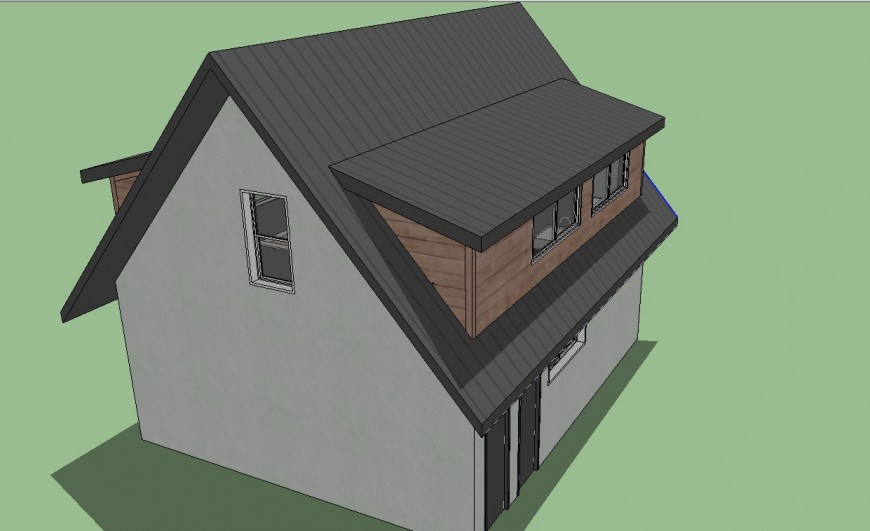 3D concept of a wooden house