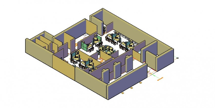 3d corporate office drawing autocad file