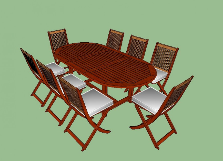 3d dining table skp file