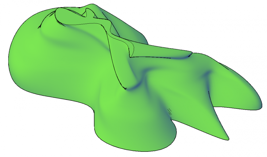 3d drawing of contour site plan drawing in dwg file.