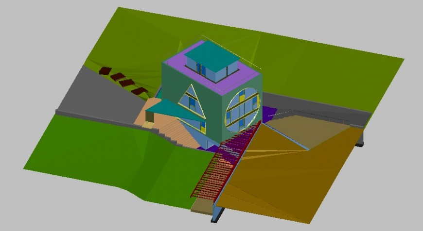 3d drawing of farm house design drawing in skp file.