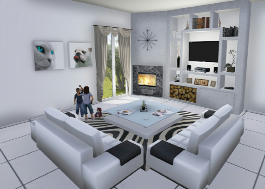 3d Drawing room sketch up file