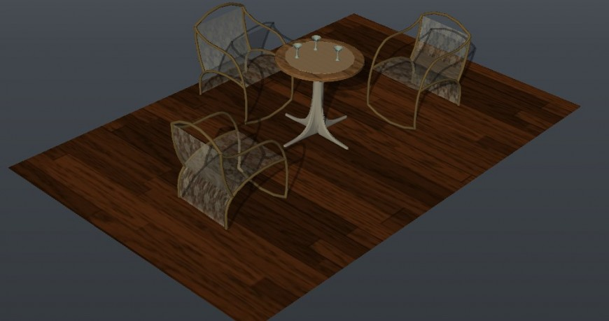 3D furniture detailing coffee table detailing in dwg file