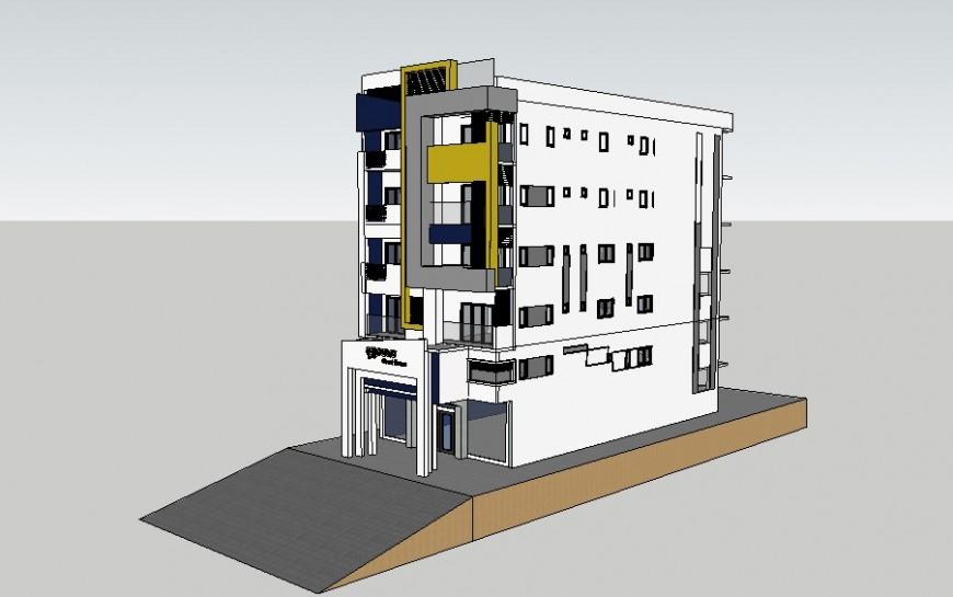 3d Guest House design skp file