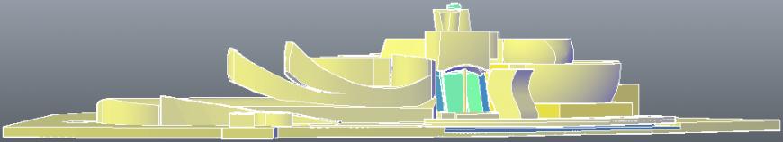 3d Guggenheim museum project cad file