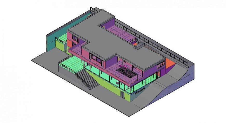 3D house in AutoCAD software