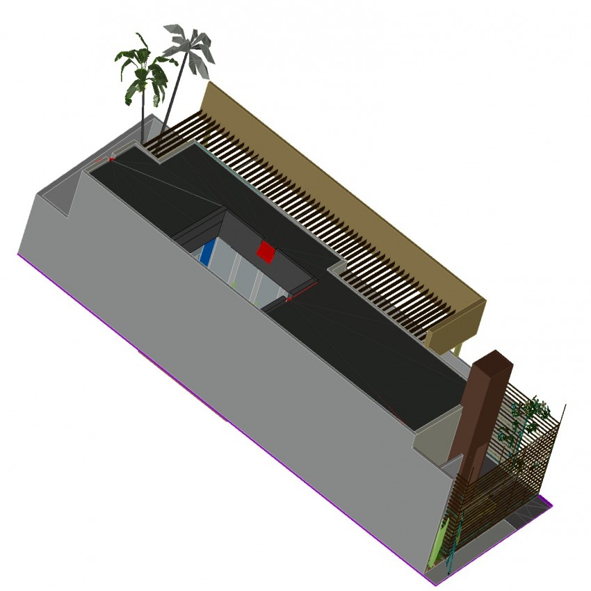3d house in dwg file.