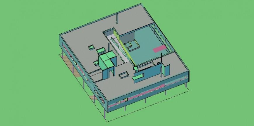 3d house project detail cad file