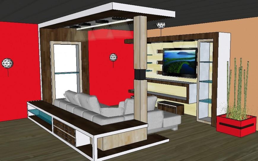 3d Interior design of living room