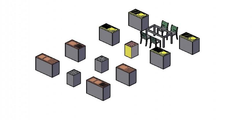 3d kitchen blocks dwg file